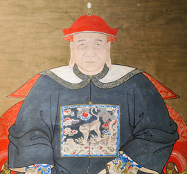 Portrait of Pan Dun-zi, the Anli village's chieftain