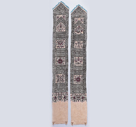 Pingpu embroidered sword-shaped girdles