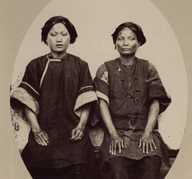 Photo of plain indigene in southern Taiwan during the 19th century