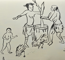 Pictorial representation of indigenous customs