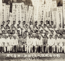 Photo of stage two reservists from Nantun District of Taichung enlisting