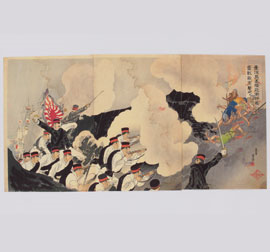 The 'Victory of the Imperial Guard (Konoe Shidan) in Keelung