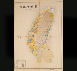 Map of Sugar industry in Taiwan (1934)